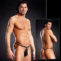 Microfiber Pouch G-string Black S/M