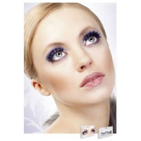 Baci Eyelashes - Реснички Black-Purple Deluxe Eyelashes