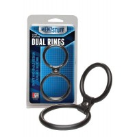 Dream Toys - Эрекционное кольцо MENZSTUFF DUAL RINGS BLACK
