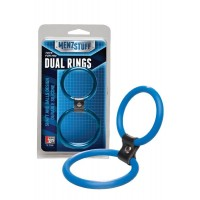 Dream Toys - MENZSTUFF DUAL RINGS BLUE